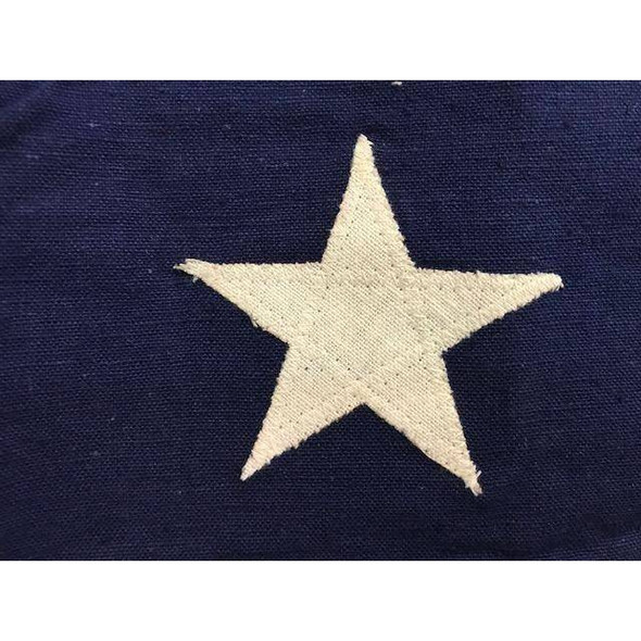 Antiqued Confederate First National 7-Star Cotton Flag 3x5 ft. with ties (Re-enactor Quality)