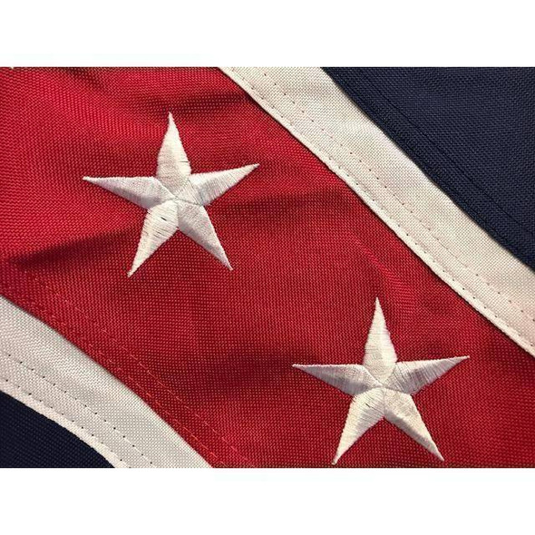 Fort Fisher Garrison 2 Ply Nylon Embroidered Flag 3' x 5'