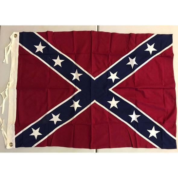 Forrest Flag (Nathan Beford Forrest Battle Flag) 36 x 47 inch -Antiqued Cotton