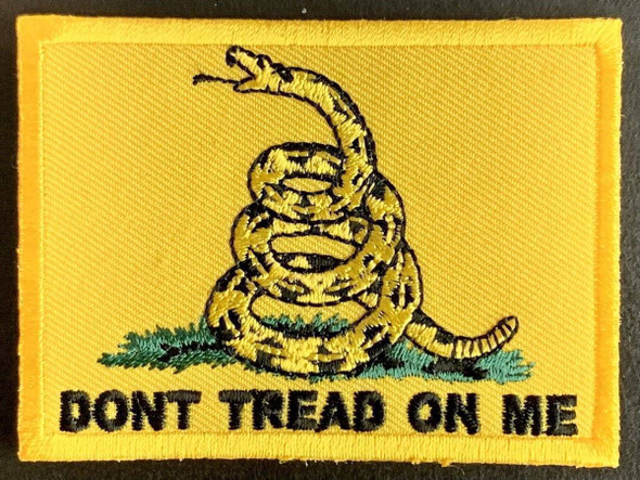 """Gadsden Don't Tread On Me  2"""" x 3"""" Iron On Patch"""