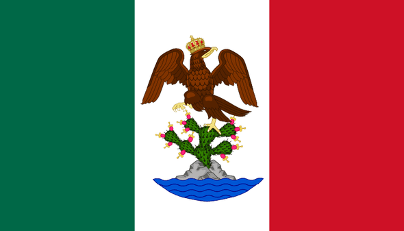 First Mexican Empire - Mexico Flag - Nylon Dyed - 3x5 ft. - Made in USA