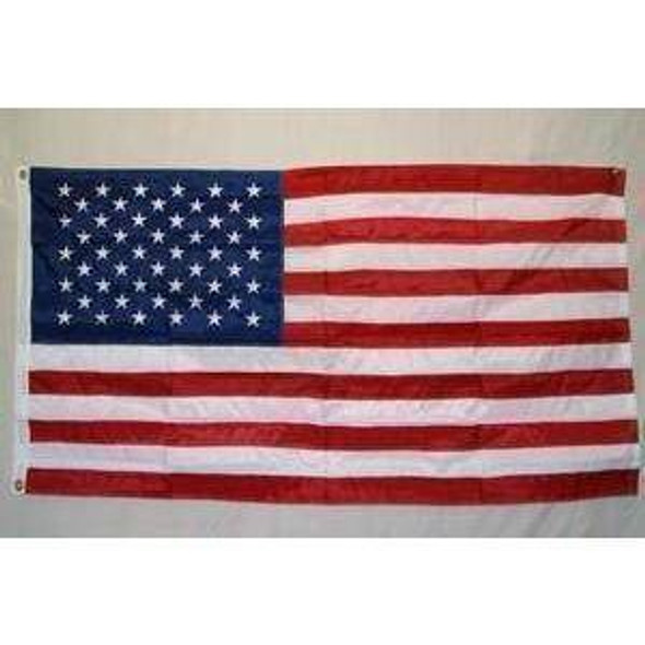 50 Star USA Flag - 2 Ply Poly Embroidered 3x5 Extra Stitching