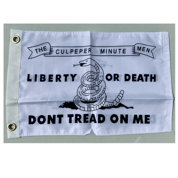 Don't Tread on Me Culpeper Flag - Nylon Printed - Double Sided - 12 x 18 inch