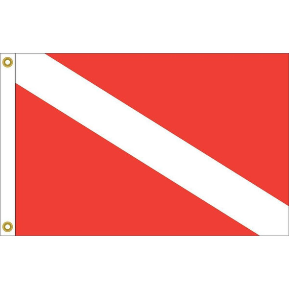 Skin Diver Down Flag Nylon Printed Made in USA