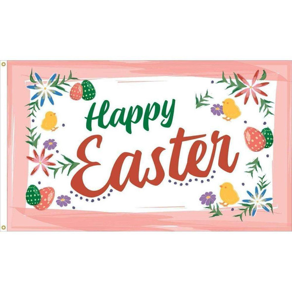 Happy Easter Flag - Outdoor Commercial - 3 x 5 Nylon Dyed (USA Made)
