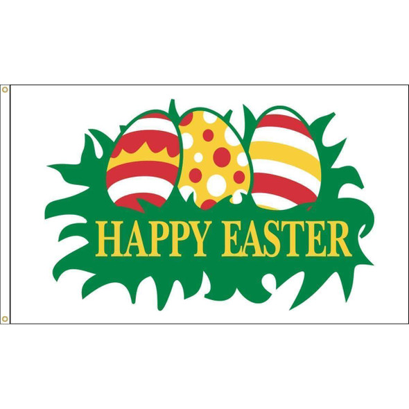 Easter Eggs Flag - Outdoor Commercial - 3 x 5 Nylon Dyed (USA Made)