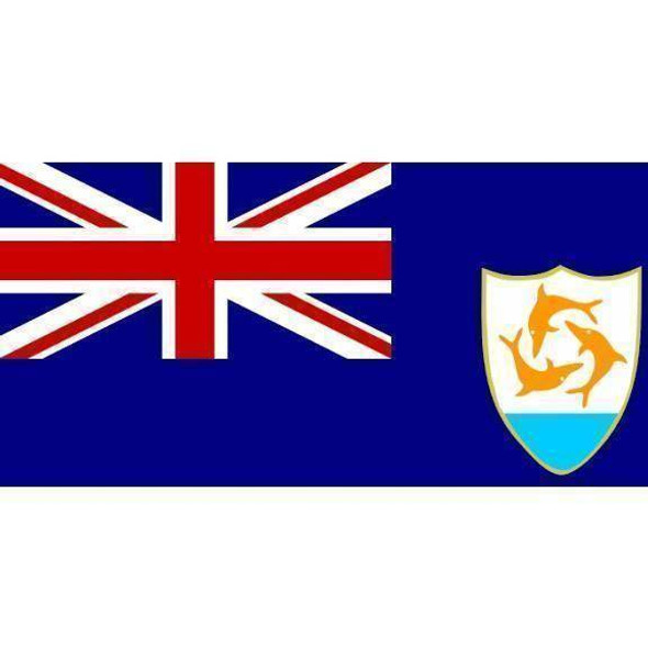 Anguilla Flag 4 x 6 inch on a stick
