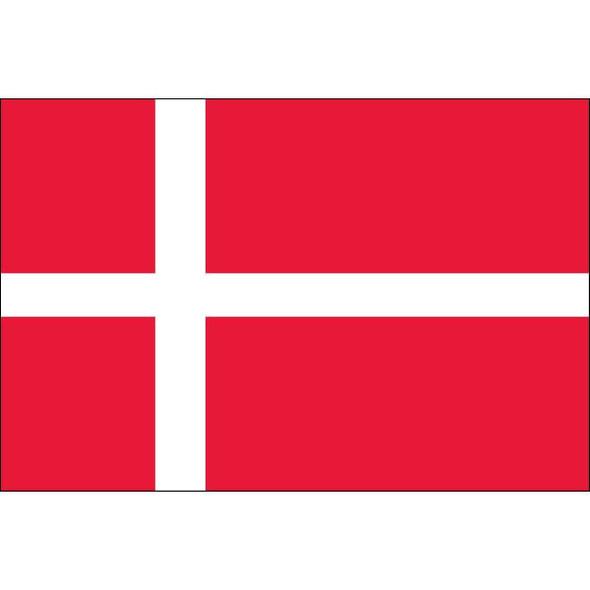 Denmark Flag Nylon Embroidered 3x5 ft
