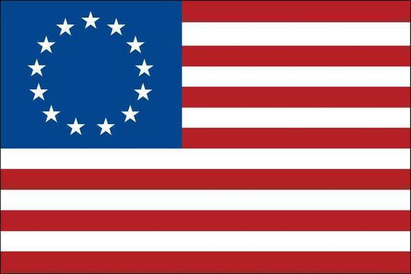 Betsy Ross Flag 6x10 ft Garrison  Nylon Fully Sewn Flag (USA Made)