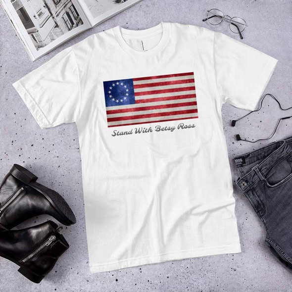 Betsy Ross Flag T-Shirt Made in USA on Sale