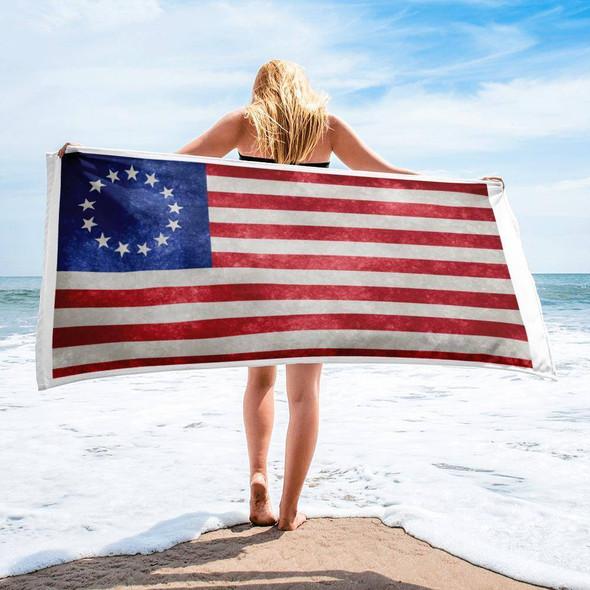 Betsy Ross Beach Towel