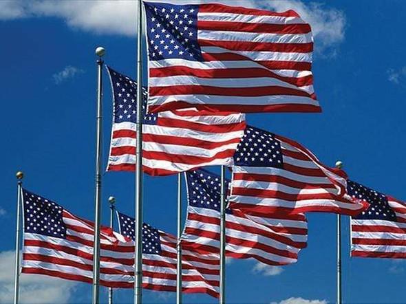 American Flag 2.5x4 ft. tough tex Made in USA - 4 Grommets - Custom