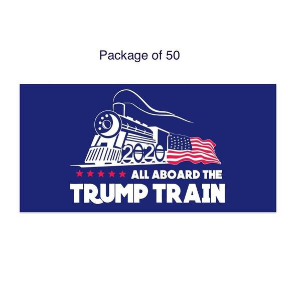 All Aboard the Trump Train Bumper Sticker