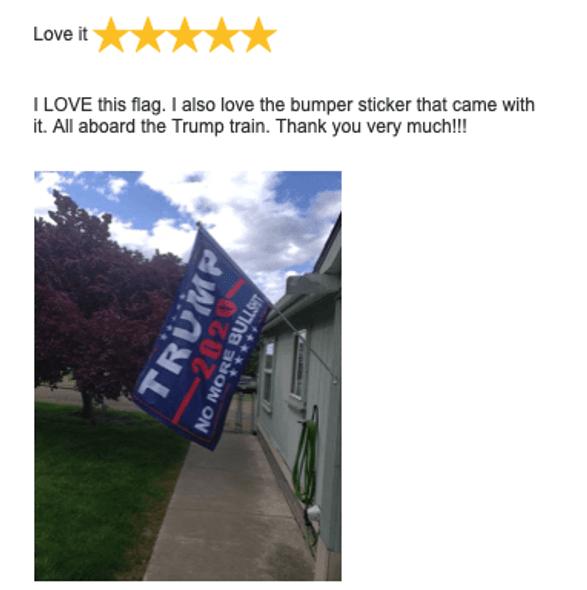 Trump No More Bullshit 2020 Flag Blue