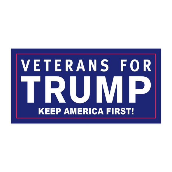 American Veterans for Donald Trump Blue Bumper Sticker
