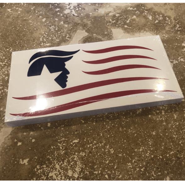 American Trump Flag bumper sticker