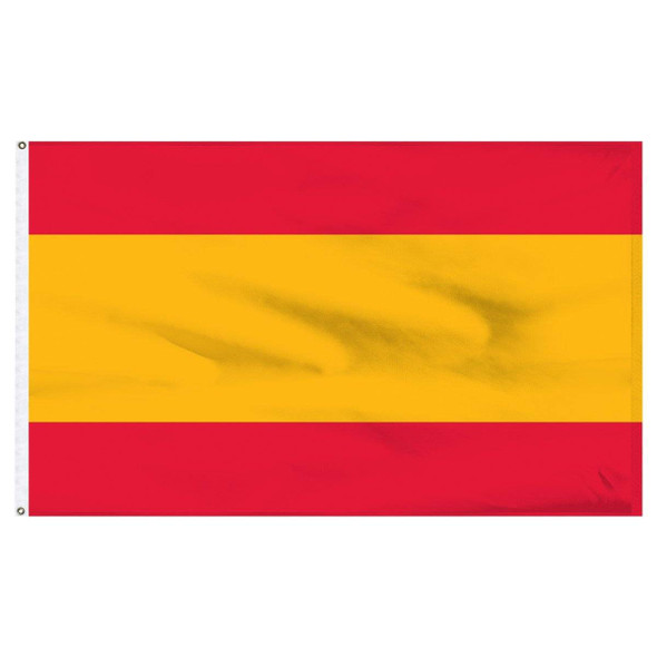 Spain Flag no Seal Nylon Dyed Made in USA