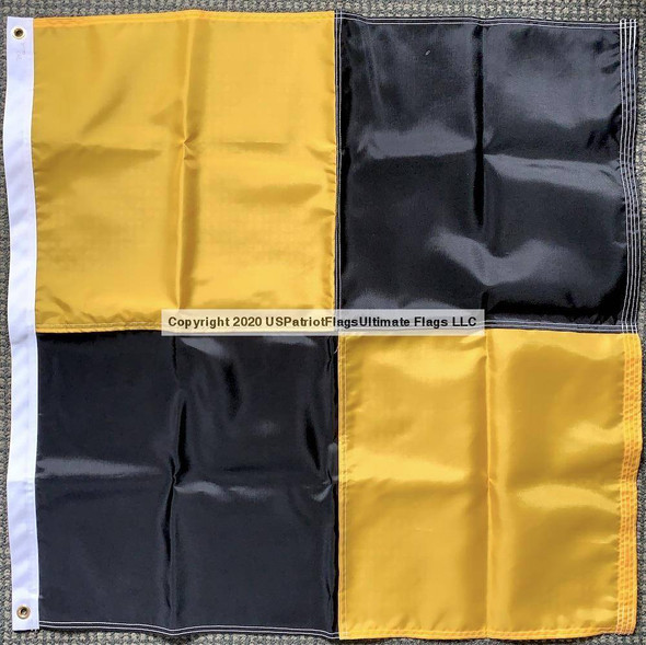 3'x3' Lima Flag Made in USA International Code of Signals