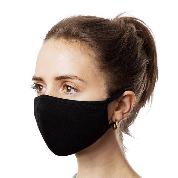 3 Black Face Masks Washable