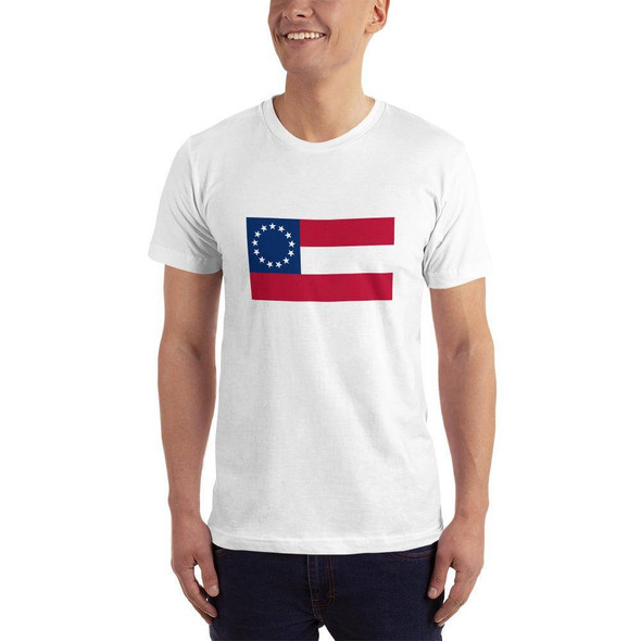 1st National 13 Stars and Bars T-shirt Made in USA