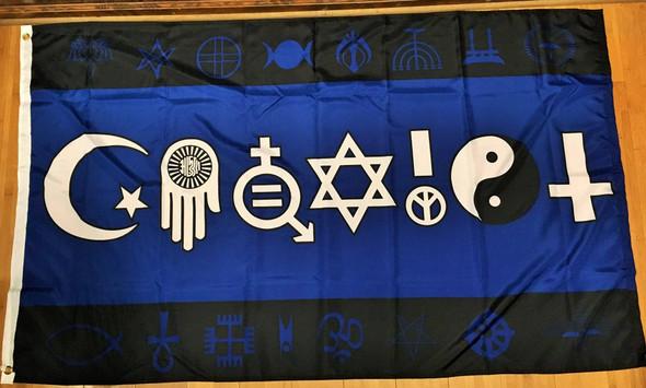 Coexist Blue Flag Rough Tex 3x5 World Peace