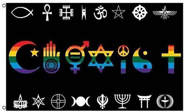 Coexist Rainbow Flag Rough Tex 3x5 World Peace