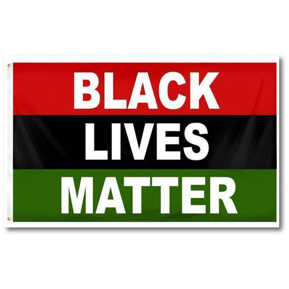 Black Lives Matter Afro-American Flag Rough Tex 100D BLM