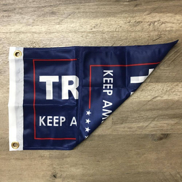 12x18 inch Double Sided Trump Keep America First Flag Knitted