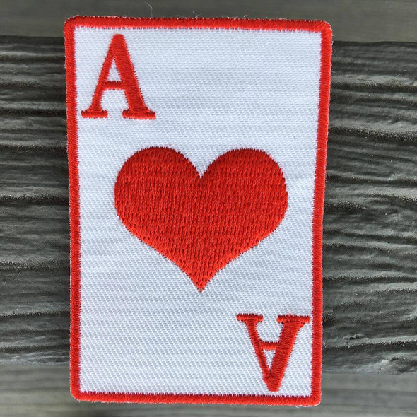 Ace Card 2x3 inch- Iron on Patch
