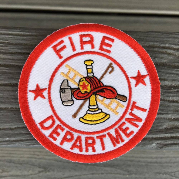 Fire Department 2x3 inch- Iron on Patch