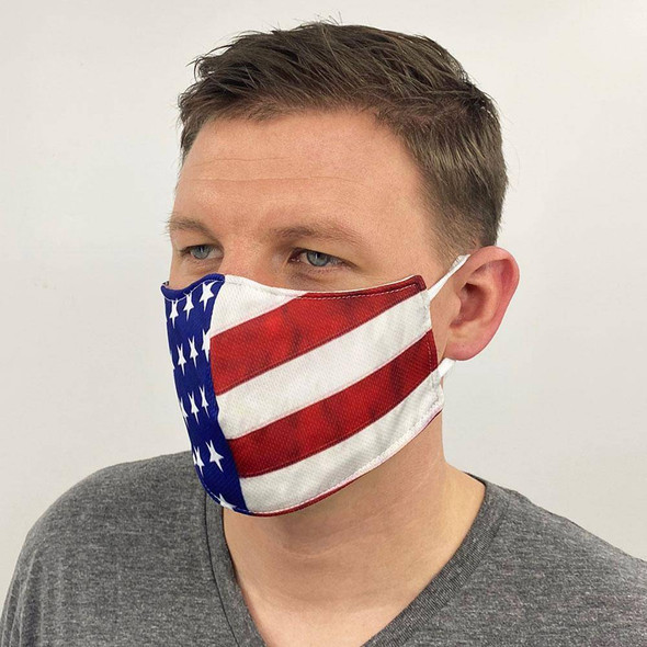American Flag Face Mask Made in USA