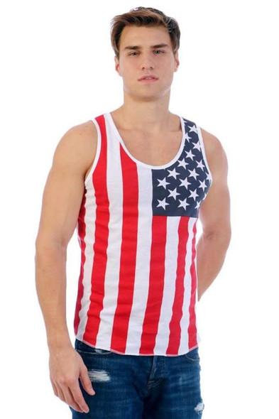 Patriotic American Flag Men's TANK
