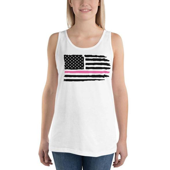 Unisex USA Pink Line Tank Top