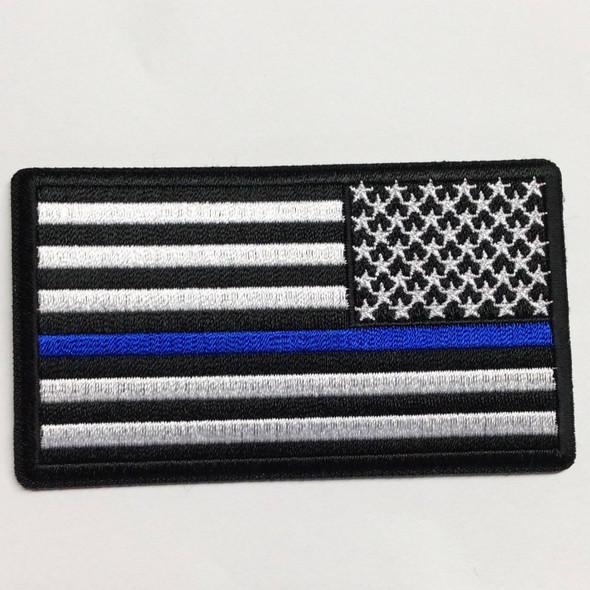 Thin Blue Line USA Patch - 2x3 inch