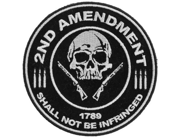 2nd Amendment Shall Not Be Infringed Skull 1789 Patch