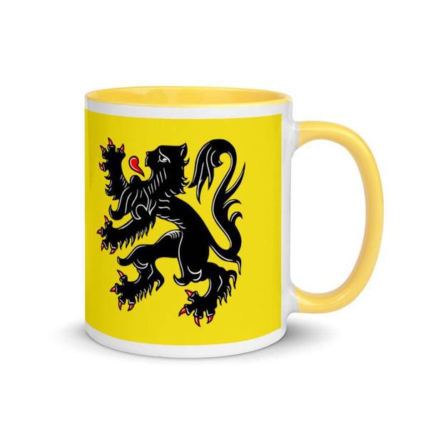 Flanders flag Mug with yellow Inside