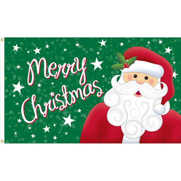 Christmas Santa Flag - Outdoor Commercial - 3x5 Nylon Printed Made in USA