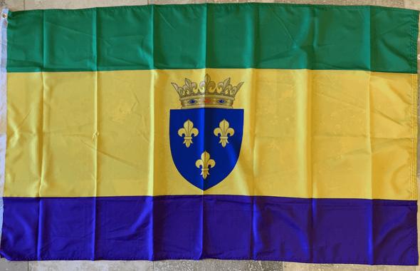 Mardi Gras Crown and Shield Flag 3x5 ft. Standard