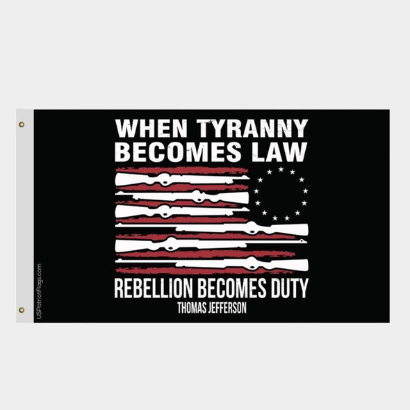 Betsy Ross Jefferson Quote Flag Made in USA
