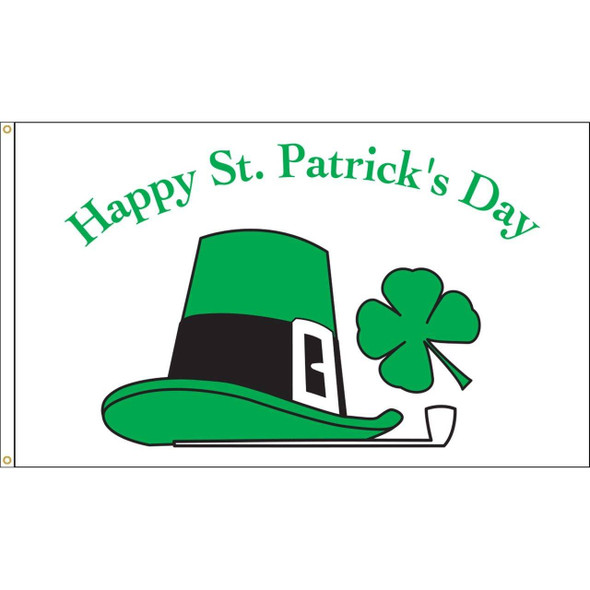 St Patrick's Day Flag - Outdoor Commercial - 3 x 5 Nylon Dyed (USA Made)