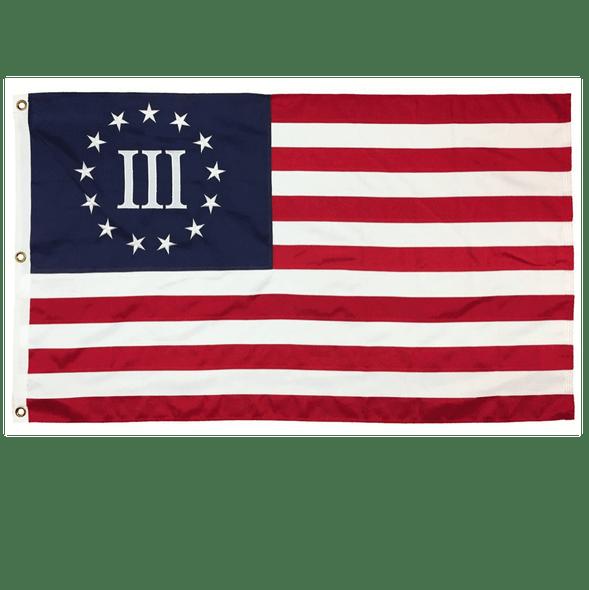 Nyberg Threepercenter  Flag - Made in USA