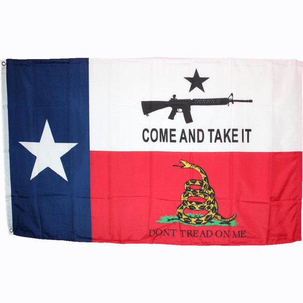 Come And Take It Don't Tread On Me Flag 3x5 ft