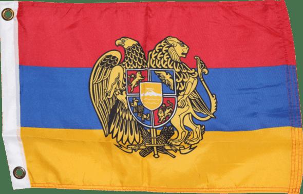 Armenia Flag Presidential Coat of Arms Official Flag