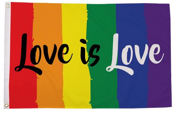 Love is Love Rainbow Flag 3 X 5 ft. Standard