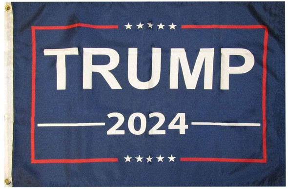 12x18 Trump 2024 Double Sided Flag Knitted Nylon