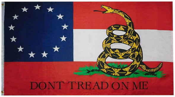 3x5 13 First National Gadsden Don't Tread On Me Flag