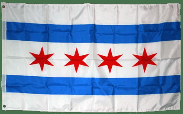 City of Chicago Flag 3x5 ft