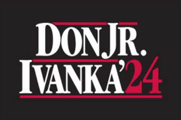 Don Jr & Ivanka Trump 2024 Flag
