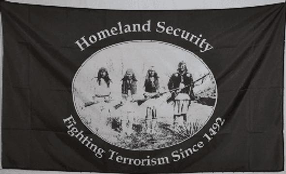 Homeland Security Fighting Terrorism Since 1492 Flag 3x5 ft. Standard
