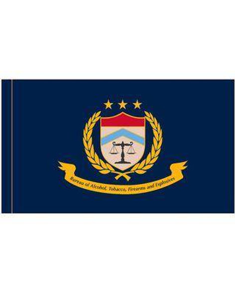 Bureau of Alcohol, Tobacco, Firearms and Explosives ATF Flag - Made in USA